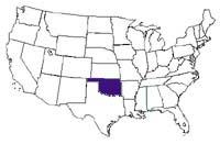 Oklahoma Map In Usa.Ok Slavery