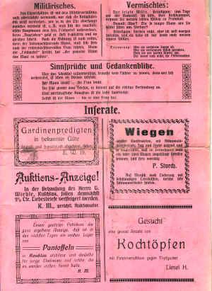 Hochzeits Zeitung 1914