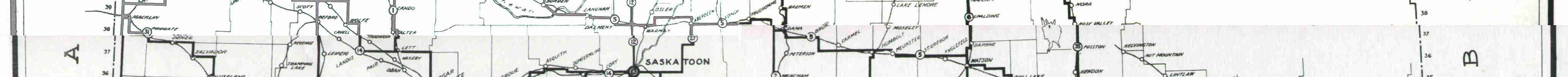 1926 Highway Map: Province of Saskatchewan.
