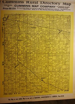 Cummins map 148 historical Saskatchewan, Canada map