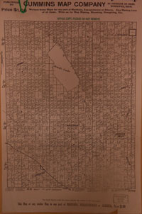 Cummins map 149 historical Saskatchewan, Canada map