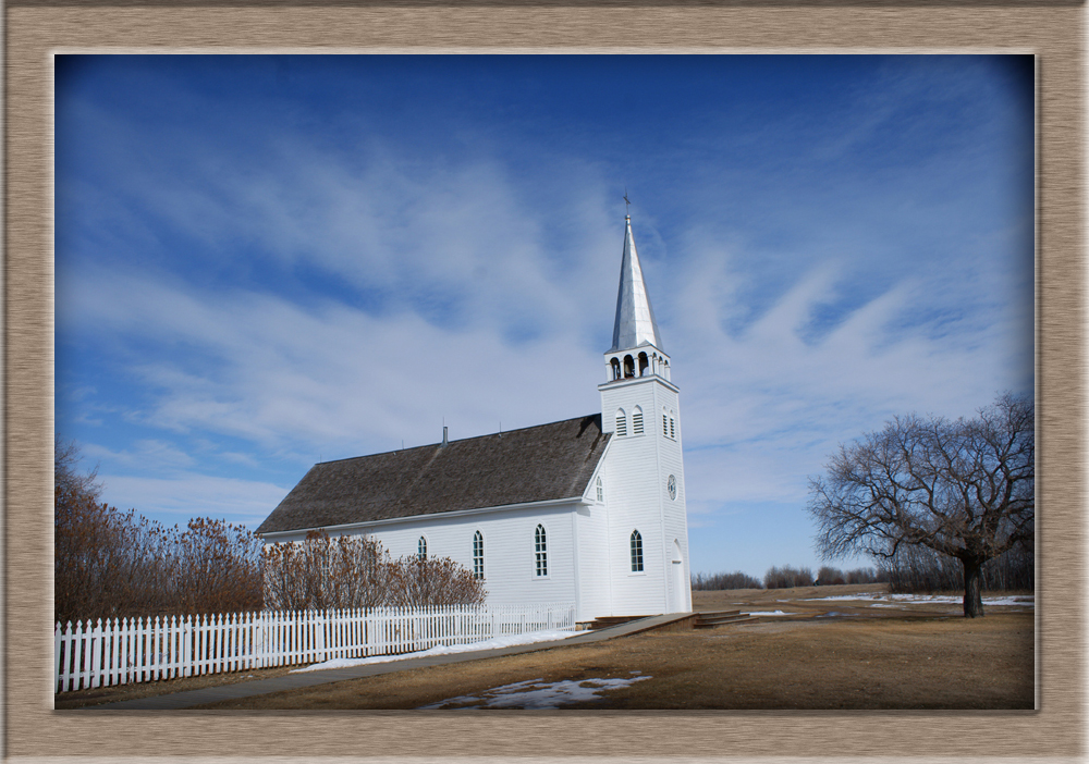Church At Batoche, Saskatchewan, The church of Saint Antoine de Padoue