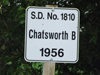 Chatsworth School District 181 near Saltcoats, Saskatchewan 1907-1966 Location 51 03'4'' N 102 00' 22''W Southeast section 25 township 24 range 1 west of the second meridian