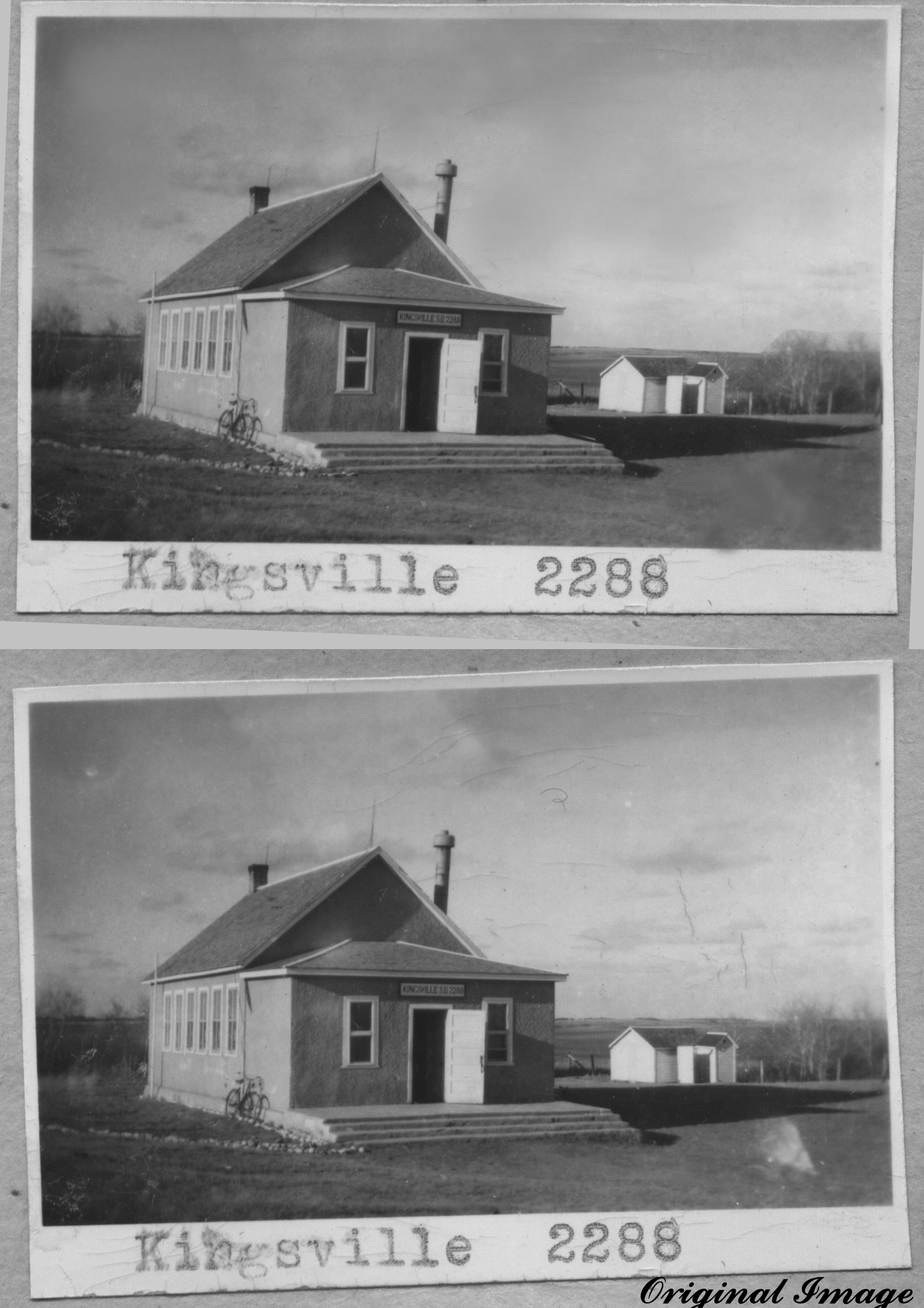 Kingsville school district 2288, 1909-1952, southwest section 18 township 22 range 18 west of the second meridian, near Southey South east section 7 township 23 range 18 west of the 2 meridian, provincial highway 6,    - Saskatchewan Gen Web