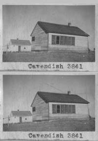 Cavendish School District 3841, one room school house picture