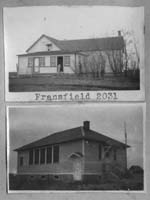 FRANSFIELD 2031 1908 1962 Regina Sheet Map NW of NW 21 Township 22 Range 19 W of the 2 nd Meridian near Southey 1948 and 1950 Rebuilt 1950. The district name of K�NUGSBURG was already being used, before the school built, FRANSFIELD decided upon