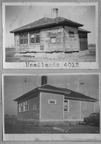 HEADLANDS (A) 4012 1919 1924  NW 34 Township 24 Range 14 w of the 2 nd Meridian near Headlands 1948 and 1952 P.O. SW Section 32 Tsp 24 Rge 13 W2 Headlands School District 4012  HEADLANDS (B) 4012 1924 1959  NE 34 Township 24 Range 14 w of the 2 nd Meridian near Headlands 1948 and 1952 P.O. SW Section 32 Tsp 24 Rge 13 W2 Headlands School District 4012
