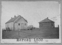 HERZEL 1503 1906 1959 None Map SW 30 Township 23 Range 12 W of the 2 nd Meridian near Hirzel 1949 Closed 1949. Rebuilt, and reopened 1954. P.O. SW Sec 6 Tsp 24 Rge 8 W2