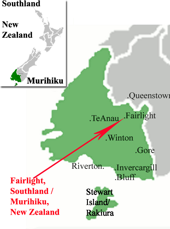 New Zealand Provinces Map.Fairlights Around The World That Have A Naming Link To Fairlight