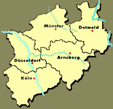 Nrw Kreise Kreisfrei Stadte