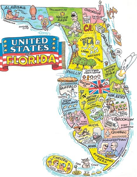 Hilarious Maps Showing What Florida Is Really Like - Map of floria