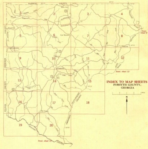 Forsyth Georgia Map.Forsyth County Maps