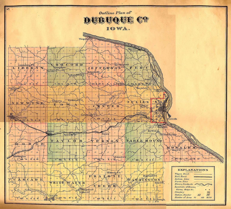 Cascade Iowa Map.Plat Maps 1