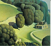 Detail of Young Corn, by Grant Wood