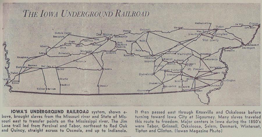 Salem Iowa Map.Iowa Map Underground Railroad