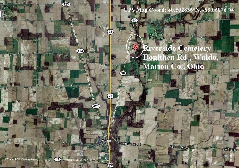 Waldo Ohio Map.Peter 2 Mannasmith Br 1827 1897 1770 1826 Family Page Co Ia