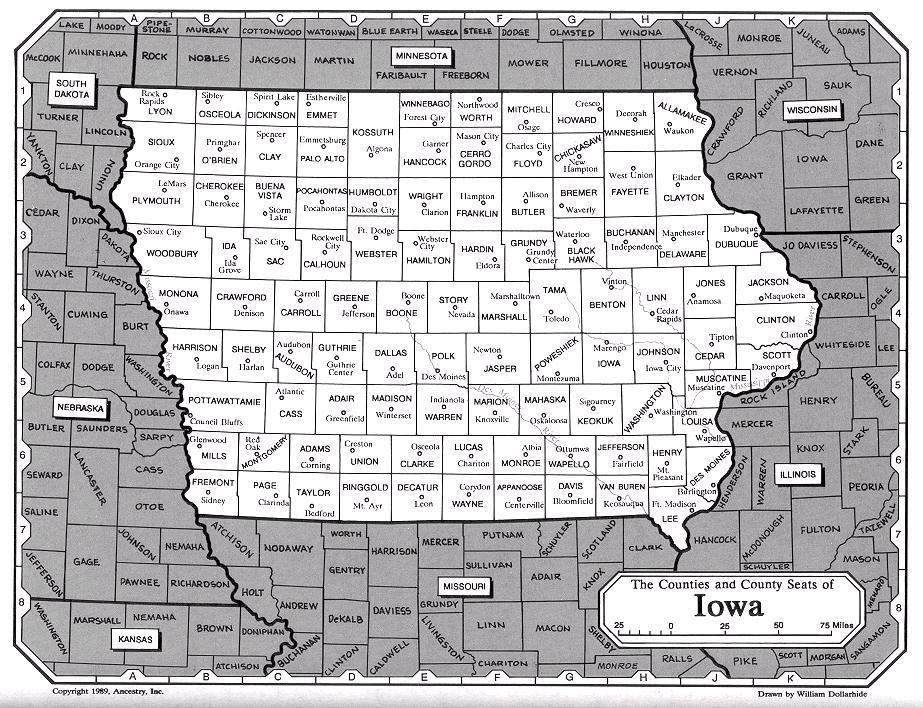 Iowa County Iowa Map.Ia Land Maps