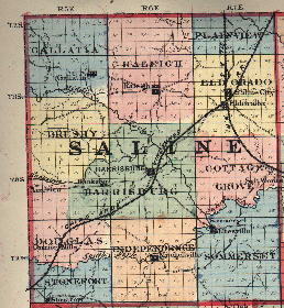 Harrisburg Illinois Map.Saline County Illinois Genealogy
