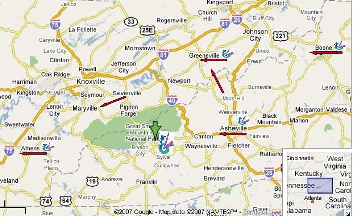 Cherokee Nc Map on