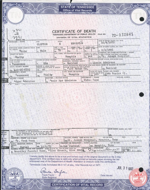 Mississippi Vital Records