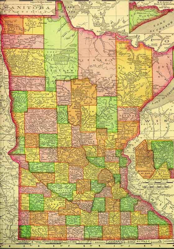 Lake County Minnesota Map - County map of minnesota