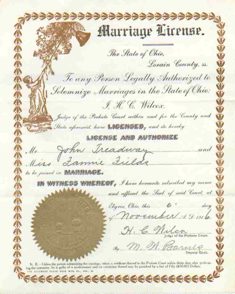 Marriage license franklin county ohio