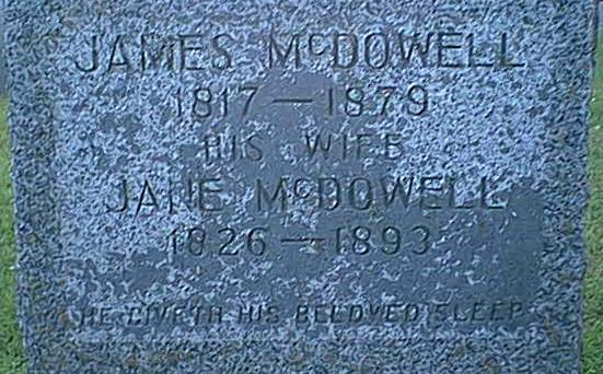 his wife  jane mcdowell