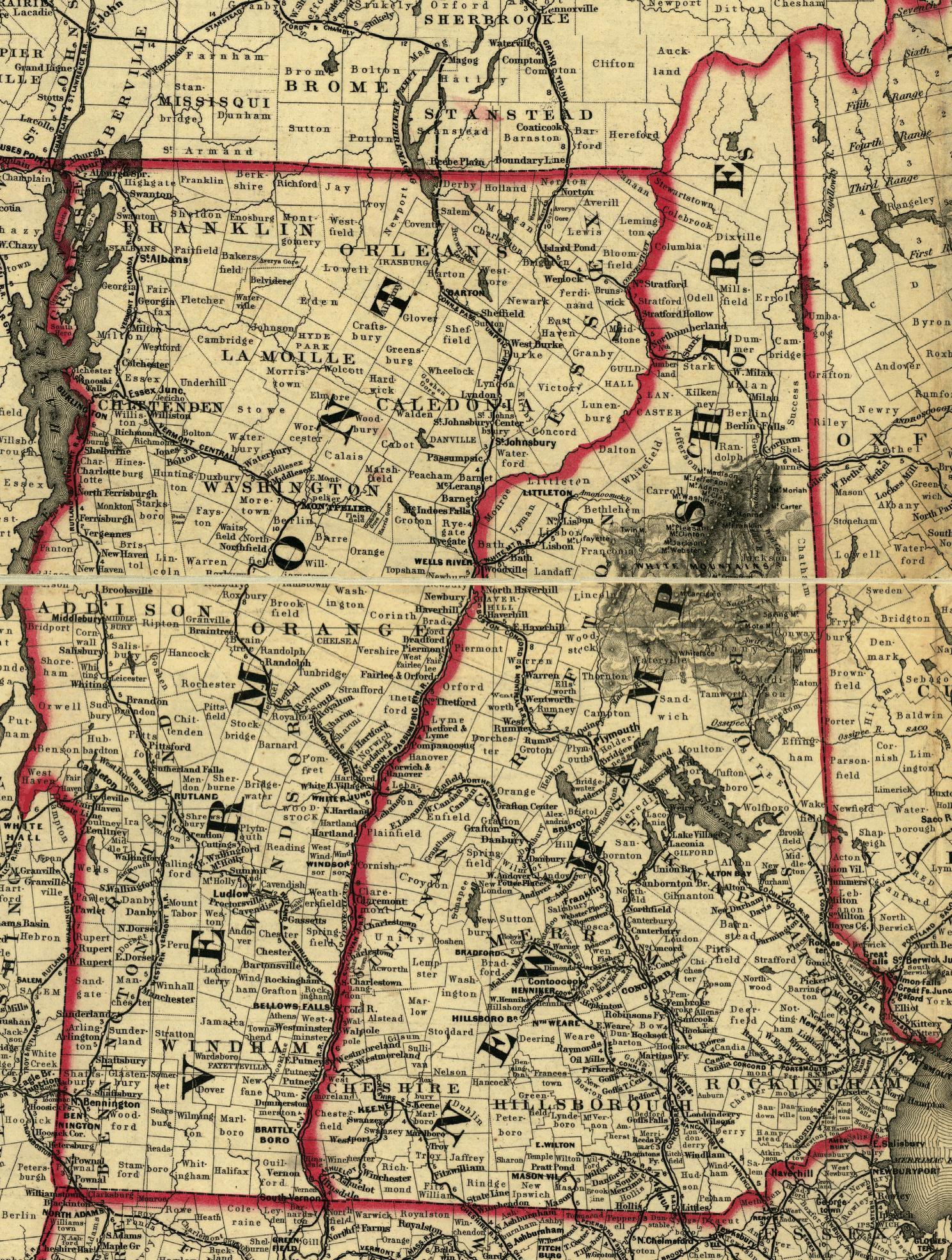 New Hampshire Maps - New hampshire maps