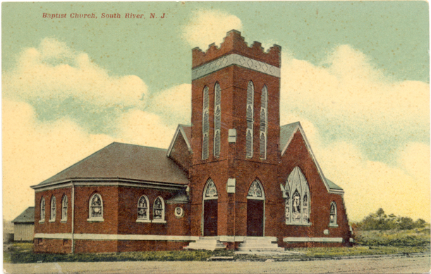 front of Tabernacle Baptist Church postcard