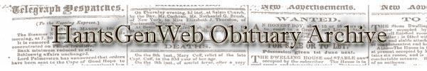 HantsGenWeb Obituary Archive