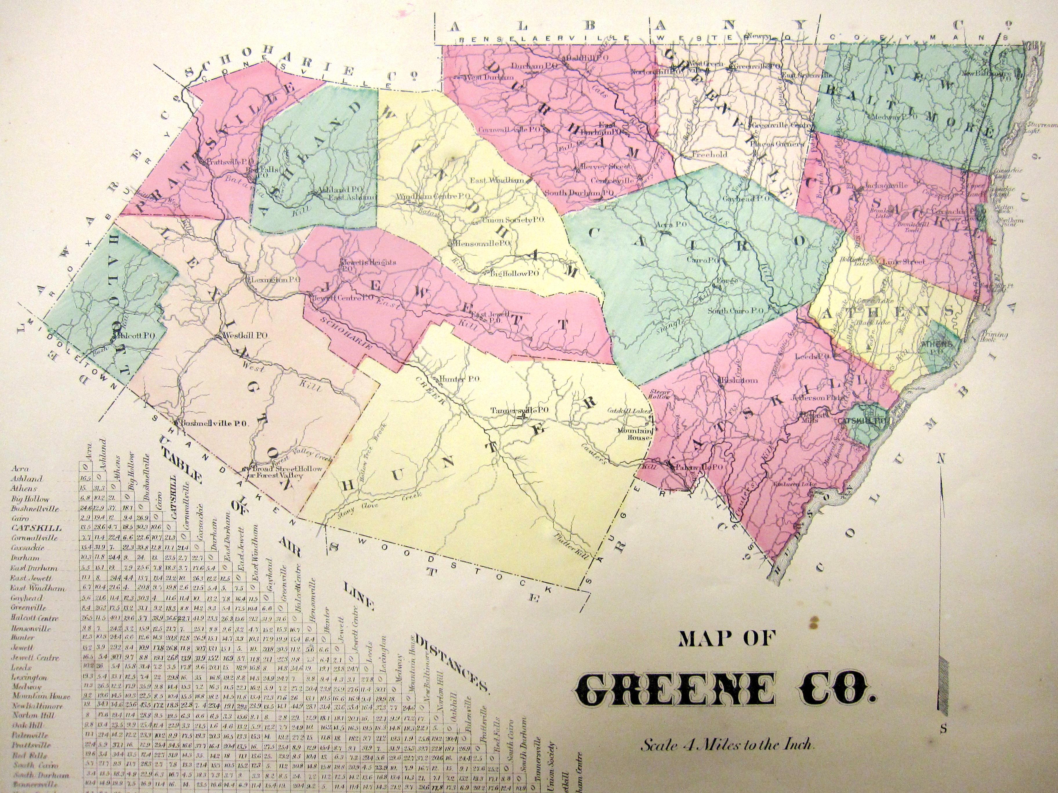Map Greene County on