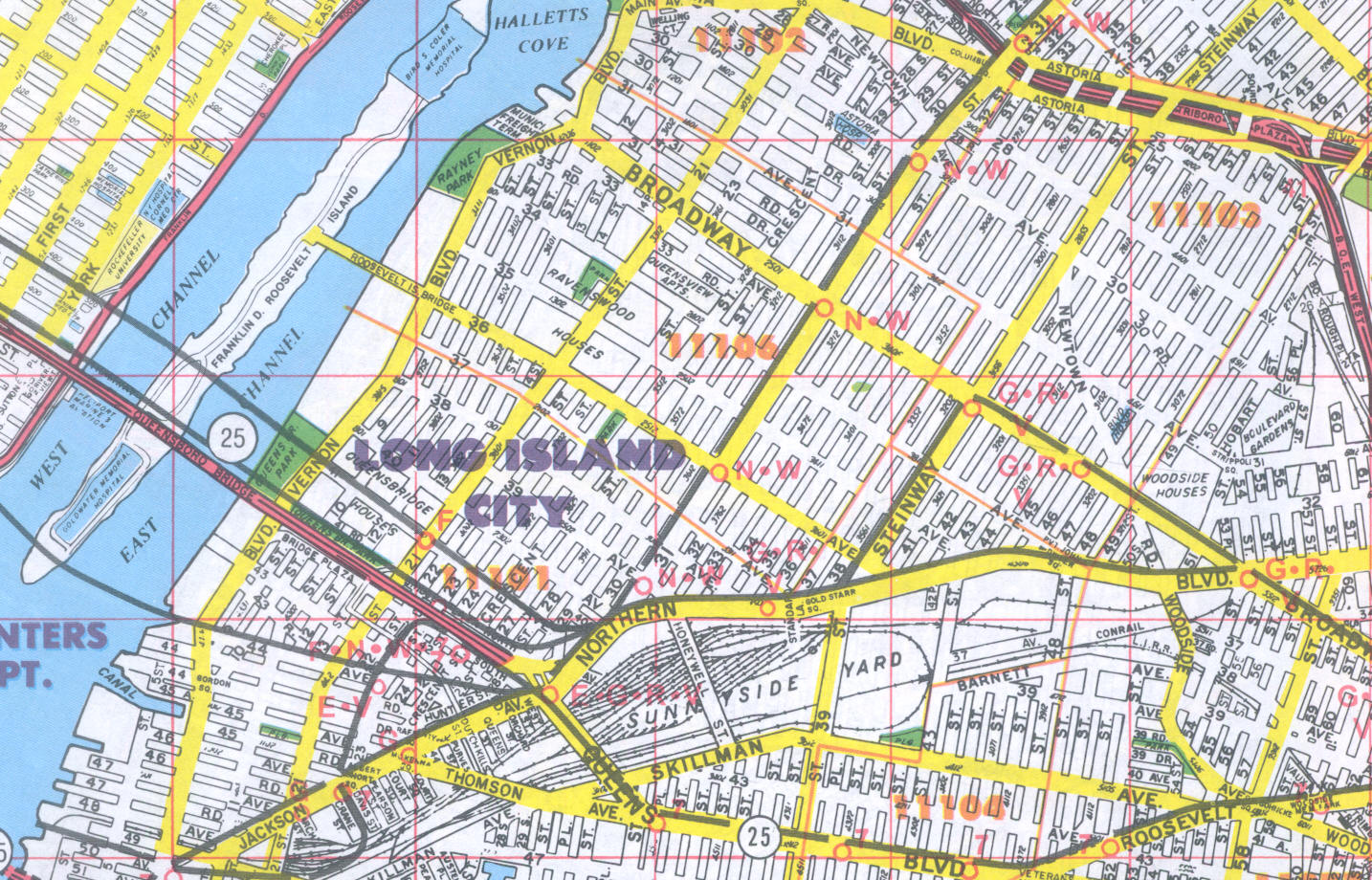 on queens county map