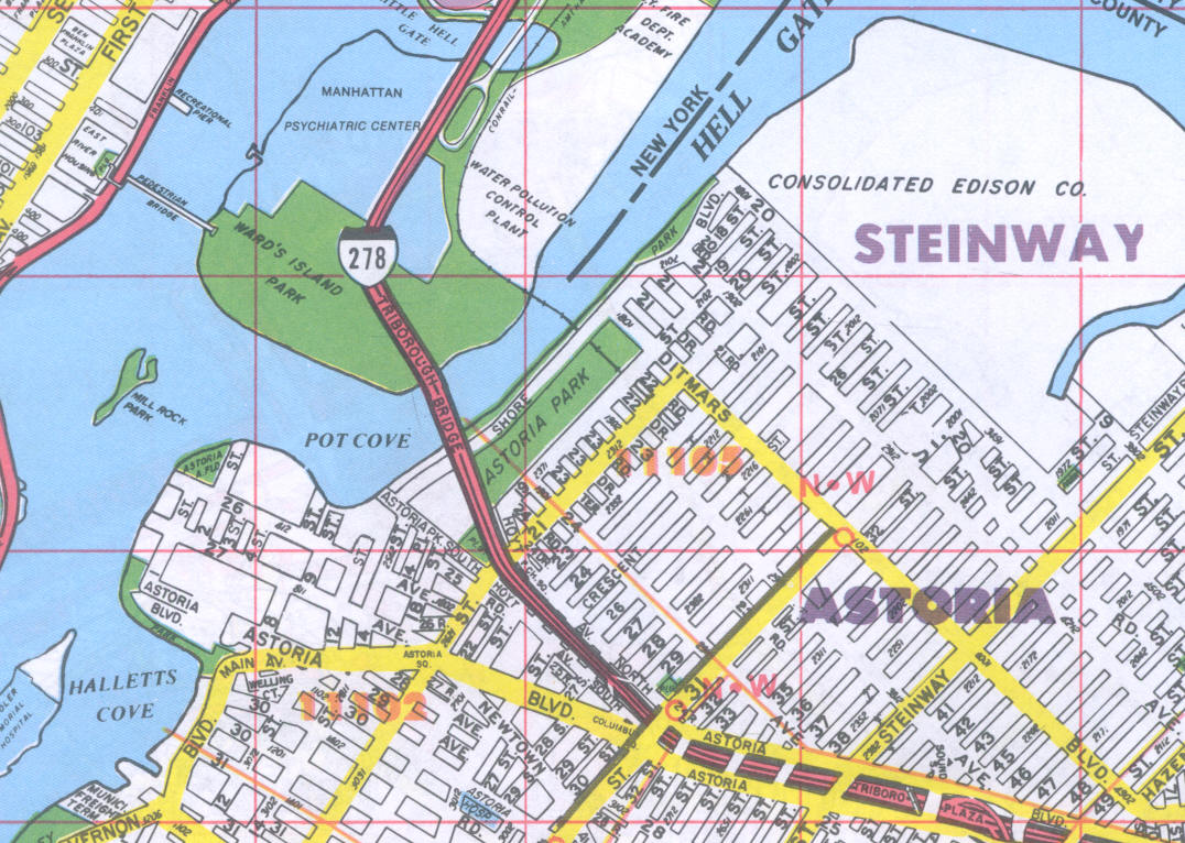 Neighborhood Street maps, Queens County, NY on