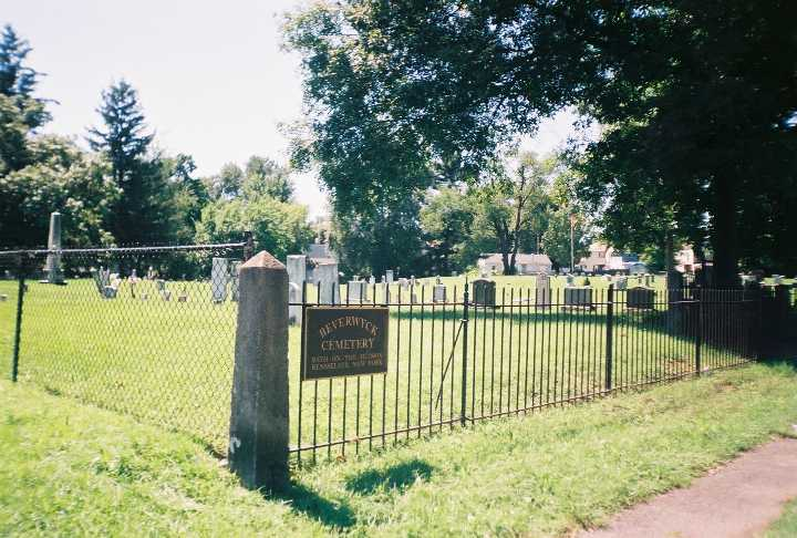 Beverwyck Cemetery is located across from the old high school.