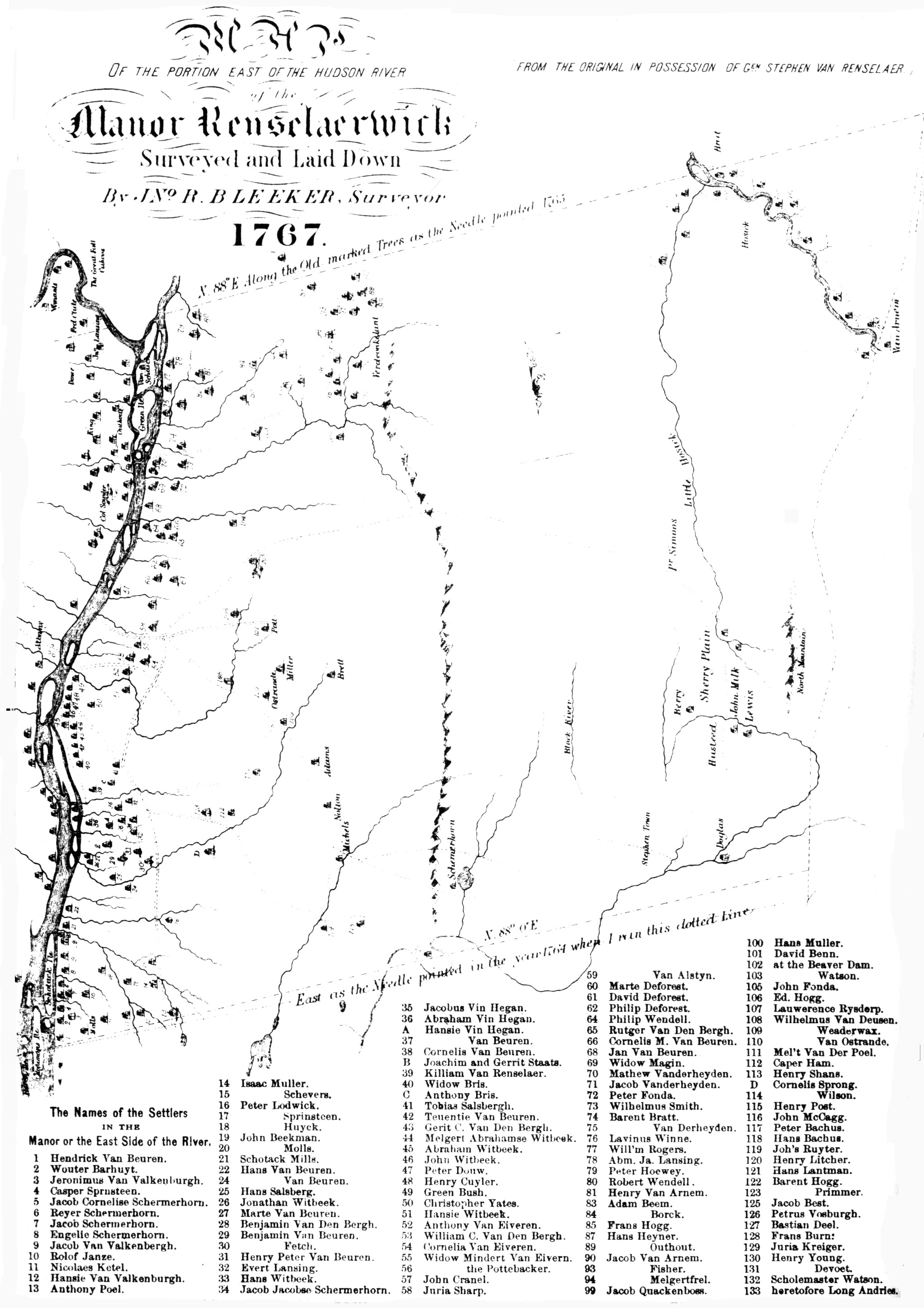 Rensselaerwyck Settlers 1630 1658