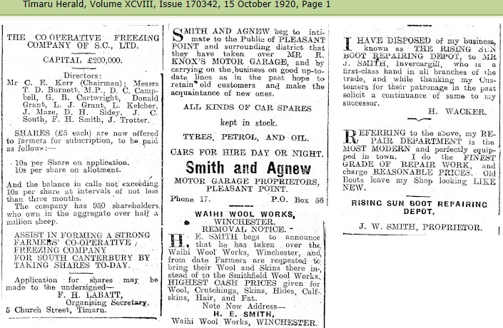 b38d73cd2 In 1911 the Smithfield Estate, at Winchester, owned by Mr Robert Smith, and  Mr H. S. Smith still carried on the wool scouring business in Winchester  with ...