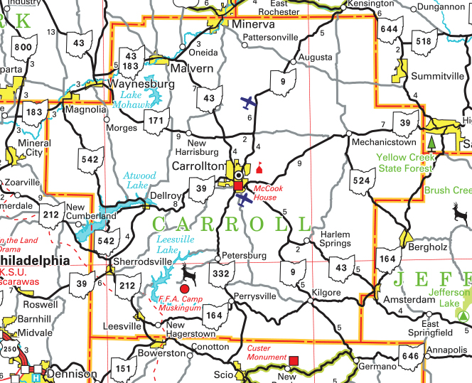 Carroll County map