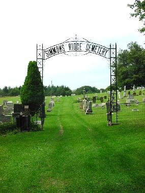 Simmons Ridge cemetery gate