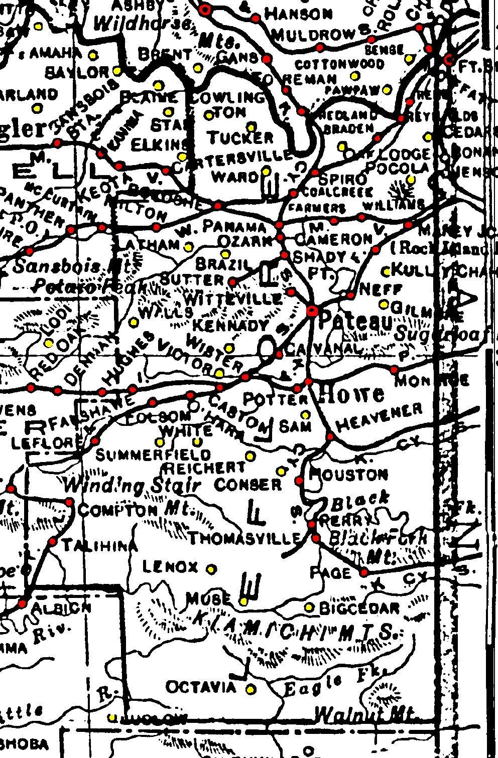 Leflore County Oklahoma Map.Leflore County Oklahoma Resources Maps