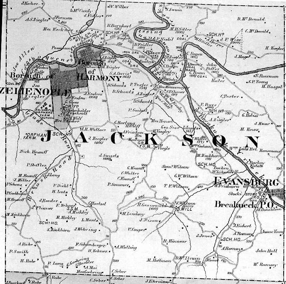 Butler County Pennsylvania Maps 1874