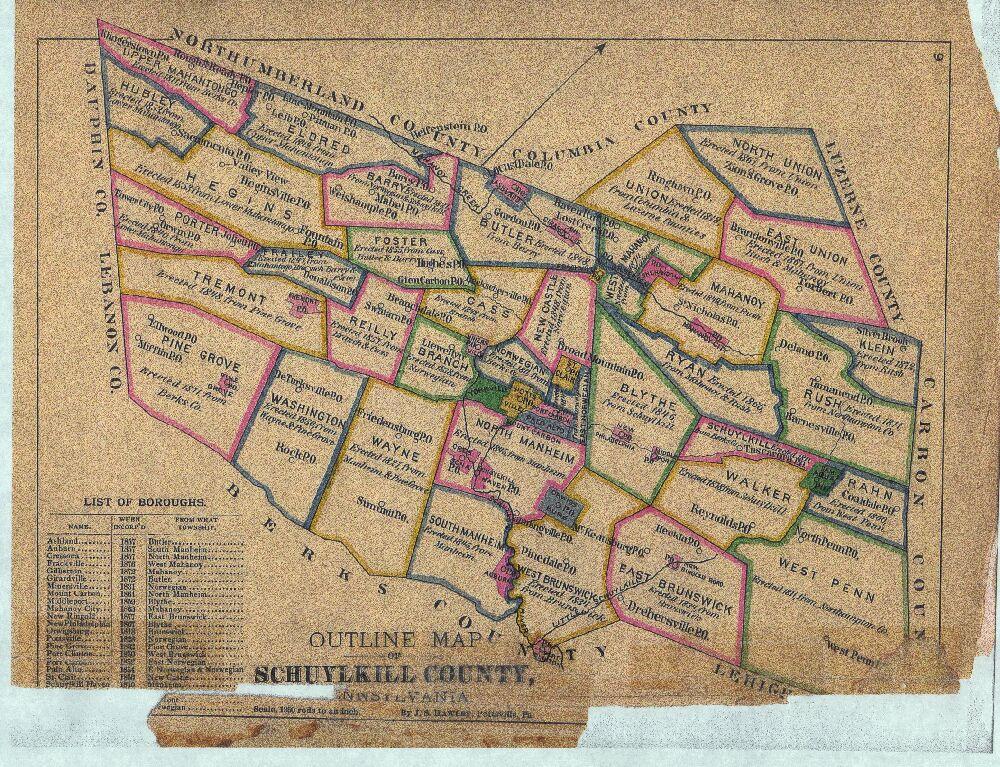 1770 PA MAP Nescopeck Philadelphia New Stanton Newport Bryn Athyn Pennsylvania