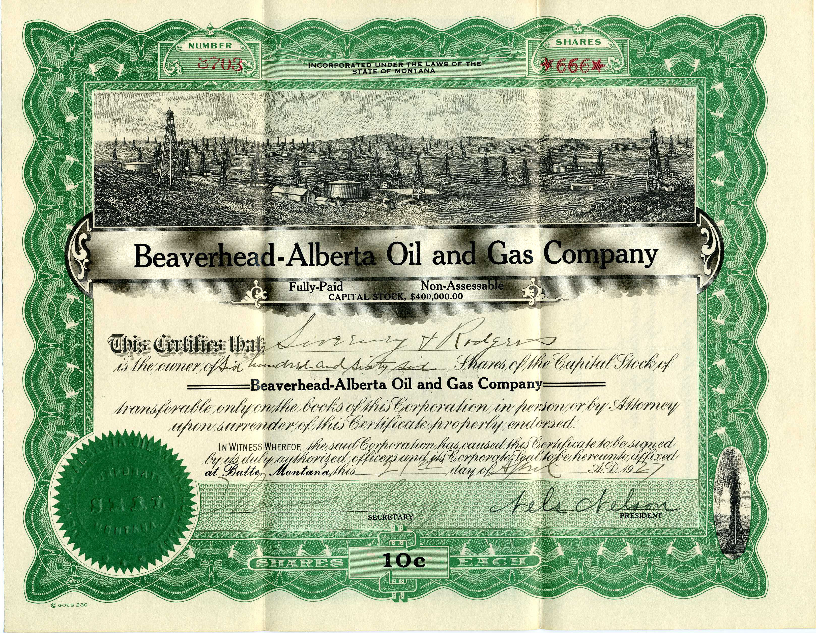 william sweeney share certificates