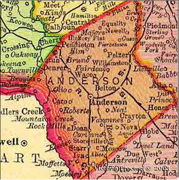 anderson county sc map 1895 atlas map