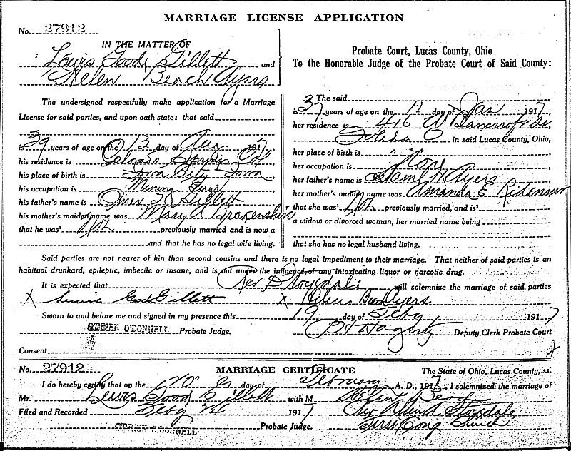 Ohio Marriage Record