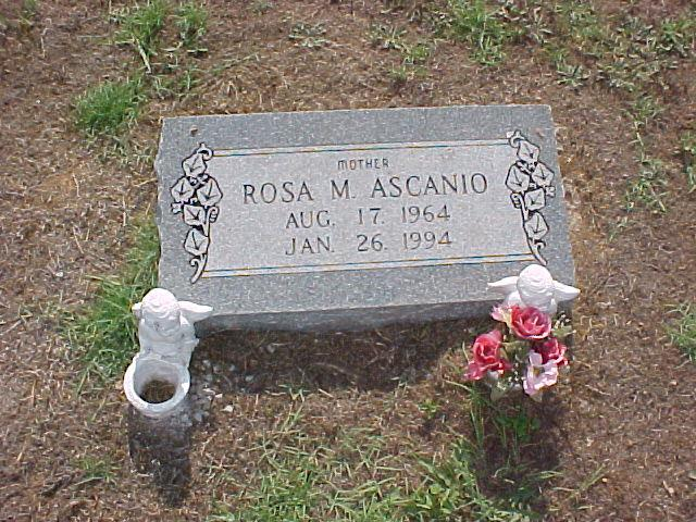 Tombstone of Rosa Ascanio