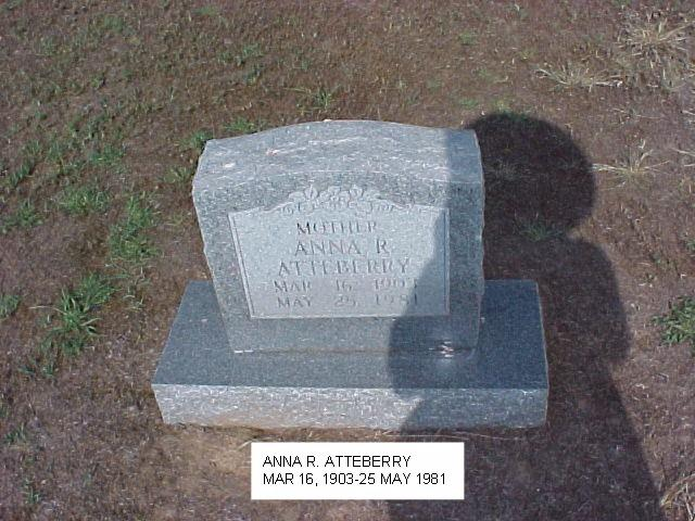 Tombstone of Anna Atteberry