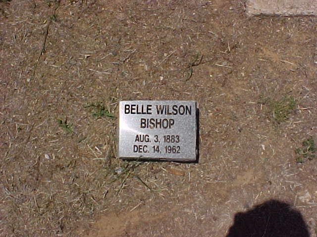 Tombstone of Belle Wilson Bishop