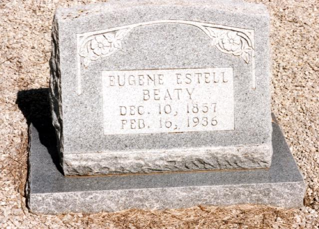 Tombstone of Eugene Estell Beaty