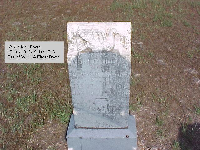 Tombstone of Vergie Idell Booth