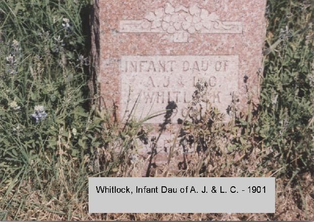 Tombstone of Infant Whitlock